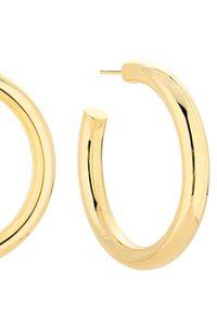 SELFIE JEWELLERY - Złocone kolczyki Hailey. Materiał: srebrne, pozłacane, z mosiądzu, złote. Kolor: złoty