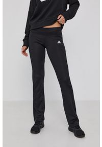 Adidas - adidas - Legginsy. Kolor: czarny. Materiał: dzianina. Wzór: gładki