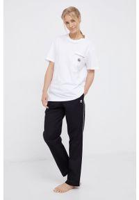 Karl Lagerfeld - Piżama. Stan: podwyższony. Kolor: czarny. Materiał: bawełna, dzianina, tkanina. Wzór: aplikacja