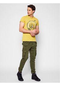 Aeronautica Militare T-Shirt 211TS1856J513 Żółty Regular Fit. Kolor: żółty