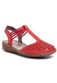 Czerwone sandały Rieker