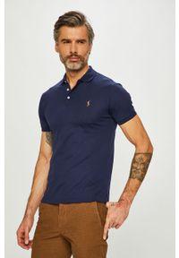 Niebieska koszulka polo Polo Ralph Lauren krótka, na co dzień, polo