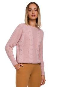 Różowy sweter oversize MOE