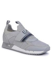 Szare sneakersy EA7 Emporio Armani z cholewką