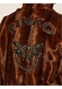 Pinko Futro Manuele Al 20-21 BLK01 1G1555 Y6C4 Brązowy Regular Fit. Kolor: brązowy. Materiał: futro #2
