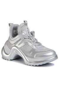 Srebrne buty sportowe Togoshi