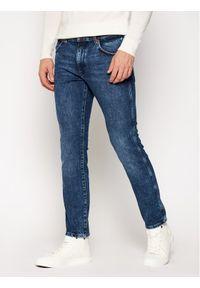 Wrangler Jeansy Slim Fit Larston W18SJU201 Granatowy Slim Tapered. Kolor: niebieski. Materiał: jeans