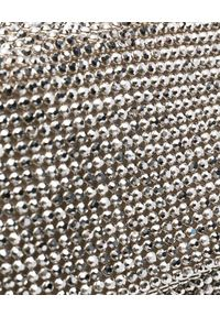 BENEDETTA BRUZZICHES - Torebka z kryształów La monique White Lady Small. Kolor: srebrny. Wzór: aplikacja. Styl: wizytowy. Rodzaj torebki: na ramię