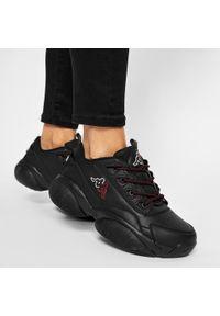 Kappa - Sneakersy KAPPA - Bolb 242938 Black/White 11110. Okazja: na spacer, na co dzień. Kolor: czarny. Materiał: skóra ekologiczna, materiał. Szerokość cholewki: normalna. Sezon: lato. Styl: casual