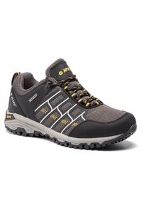 Czarne buty trekkingowe Hi-tec trekkingowe, z cholewką