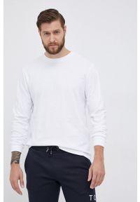 GAP - Longsleeve bawełniany. Okazja: na co dzień. Kolor: biały. Materiał: bawełna. Długość rękawa: długi rękaw. Wzór: gładki. Styl: casual