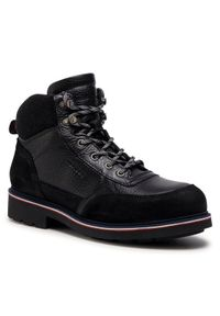 Czarne buty zimowe TOMMY HILFIGER