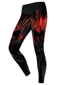 FJ! - Legginsy Warning. Materiał: skóra, elastan, dzianina, poliester. Wzór: kolorowy. Sport: fitness