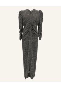 Czarna sukienka maxi, z długim rękawem