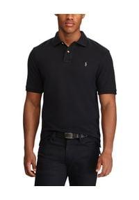 Ralph Lauren - RALPH LAUREN - Koszulka Polo. Typ kołnierza: polo. Kolor: czarny. Materiał: materiał, bawełna. Długość rękawa: długi rękaw. Długość: długie. Wzór: haft. Styl: klasyczny