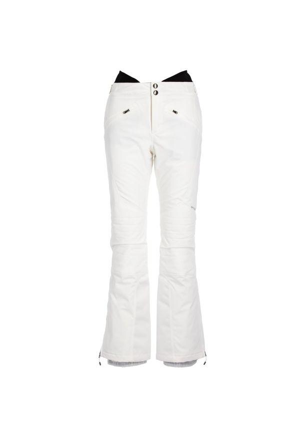 Białe spodnie narciarskie Spyder