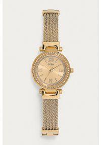 Guess Jeans - Zegarek W1009L2. Kolor: złoty. Materiał: jeans