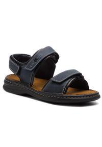 Niebieskie sandały Josef Seibel klasyczne, na lato, na co dzień