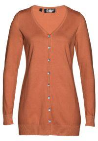 Brązowy sweter bonprix długi, elegancki