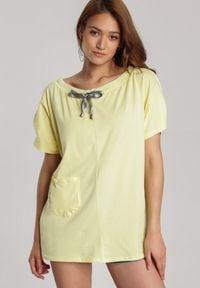 Renee - Jasnożółta Bluzka Guinerenna. Kolor: żółty
