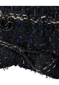 MAISON MICHEL PARIS - Czarna czapka New Abby. Kolor: czarny. Materiał: wełna. Wzór: aplikacja. Styl: klasyczny
