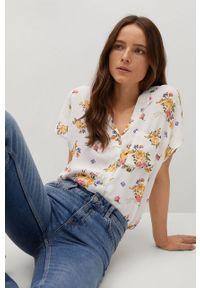 Koszula mango krótka, w kwiaty