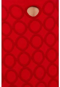 Liviana Conti - Sukienka. Kolor: czerwony. Materiał: dzianina, materiał. Długość rękawa: długi rękaw