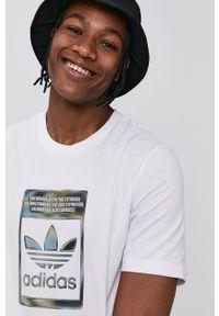 adidas Originals - T-shirt bawełniany. Kolor: biały. Materiał: bawełna. Wzór: nadruk