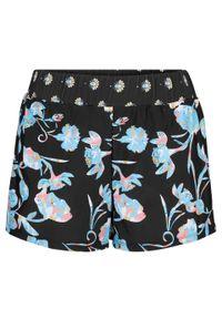 Szorty kąpielowe z figami wewnętrznymi bonprix czarno-jasnoniebieski w kwiaty. Kolor: czarny. Wzór: kwiaty