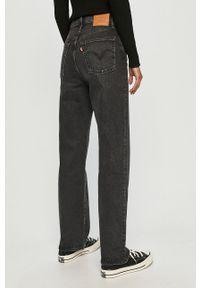 Czarne proste jeansy Levi's® z podwyższonym stanem, biznesowe, na spotkanie biznesowe