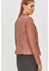 Różowa kurtka only na co dzień, klasyczna, bez kaptura