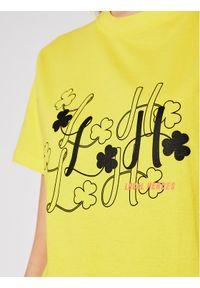 Local Heroes T-Shirt Clover SS21T0033 Żółty Regular Fit. Kolor: żółty