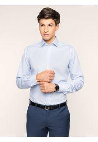 Niebieska koszula biznesowa Emanuel Berg