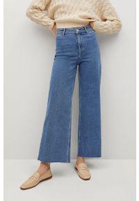 Niebieskie jeansy bootcut mango gładkie