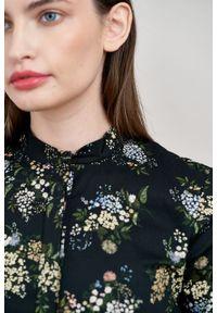 Marie Zélie - Sukienka Aglaia Musa. Typ kołnierza: kołnierzyk stójkowy. Materiał: bawełna, elastan. Wzór: kwiaty