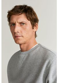 Szara bluza nierozpinana Mango Man bez kaptura, na co dzień