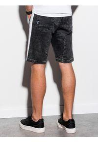 Czarne szorty Ombre Clothing krótkie, z aplikacjami