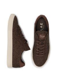 Brązowe sneakersy Clae z cholewką