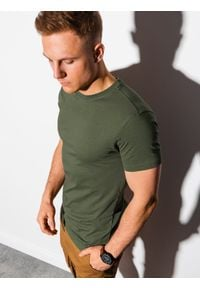 Brązowy t-shirt Ombre Clothing