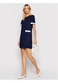 Marella Sukienka codzienna Edy 32211111 Granatowy Regular Fit. Okazja: na co dzień. Kolor: niebieski. Typ sukienki: proste. Styl: casual