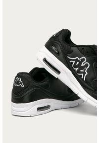 Czarne sneakersy Kappa z okrągłym noskiem, na sznurówki, z cholewką