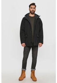 Czarna kurtka Levi's® biznesowa, na co dzień, w kolorowe wzory, z kapturem