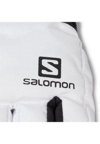 Białe rękawiczki sportowe salomon narciarskie