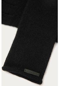 Czarne rękawiczki AllSaints melanż