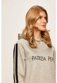 Szara sukienka Patrizia Pepe prosta, z długim rękawem