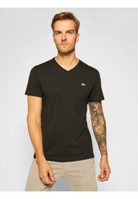 Lacoste T-Shirt TH2036 Czarny Regular Fit. Kolor: czarny