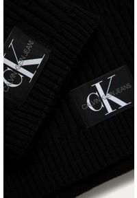 Czarna czapka Calvin Klein Jeans #4