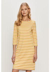 Pomarańczowa sukienka Vila gładkie, prosta, mini