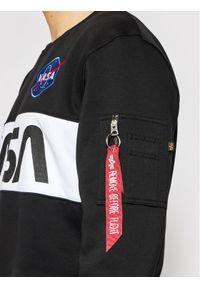 Alpha Industries Bluza Nasa Inlay 178308 Czarny Regular Fit. Kolor: czarny