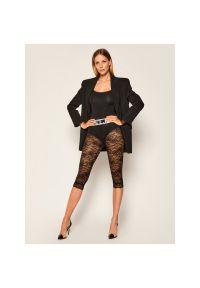 Czarne legginsy sportowe Versace Jeans Couture